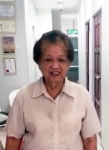 Osteoarthritis Stem Cell Therapy - Madam Tan Kim Choo